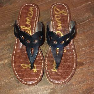 Sam Edelman cork wedge sandals.